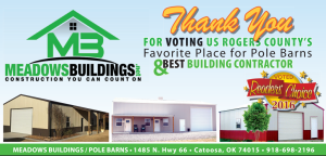 Thank You for Voting Us Roger's County's Favorite Place for Pole Barns